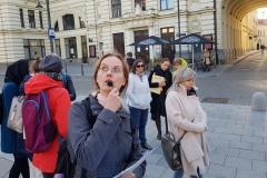 """dr. Nidos Gaidauskienės autorinę ekskursiją """"M. K. Čiurlionio ir S. Kymantaitės  pėdsakais Vilniuje""""."""