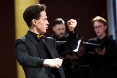 """Koncertas ,,Čiurlionis modernėjančioje Lietuvoje"""" Vilniaus Čiurlionio namų choro vadovas ir dirigentas Mantvydas Drūlia"""