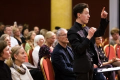 """Koncertas ,,Čiurlionis modernėjančioje Lietuvoje"""" Vilniaus Čiurlionio namų choro, vadovas ir dirigentas Mantvydas Drūlia."""