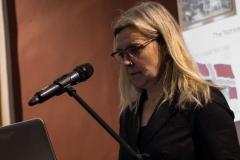 """Lietuva tarp """"Tautinės giesmės"""" ir """"Odės džiaugsmui"""" – solidi diskusija tapatybės klausimais. Norvegų istorikė, Oslo-Bergeno universiteto koledžo tyrimų ir plėtros skyriaus vadovė Brit Marie Hovland."""