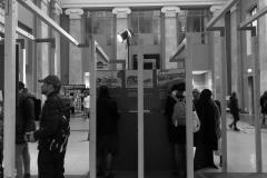 """Parodos """"Keliaujantys muzikantai"""" atidarymas Vilniaus geležinkelio stotyje"""